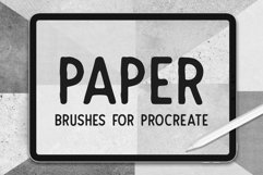 PAPER TEXTURE BRUSHES FOR PROCREATE Product Image 1