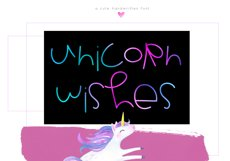 Unicorn Wishes - Quirky Handwritten Font Product Image 1