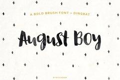 August Boy - Modern, bold, brush font  dingbat clipart Product Image 1