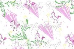 Unicorns Digital Paper , Scrapbook unicorn paper Product Image 4