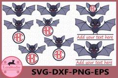 Bat svg, Bat Monogram SVG, Halloween svg File, Fall svg Product Image 1