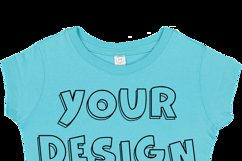 Toddler Gilrs Flat Jersey T Shirt Mockups - 17 Product Image 4