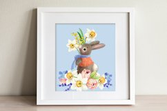 Rabbit with a bouquet of spring flowers Product Image 3