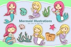 Mermaid Illustrations Product Image 1