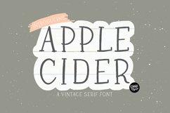 APPLE CIDER a Vintage Serif Font Product Image 1