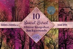 Sunset Forest Glitter Snapshot Backgrounds - 10 Image Set Product Image 1