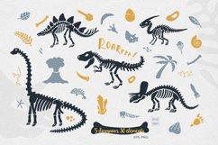 Dinosaur skeletons vector clipart, alphabet, patterns Product Image 3