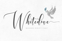 Whitedove Modern Script Product Image 1
