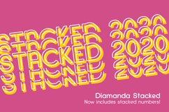 Diamanda Stacked - Retro Font Product Image 1