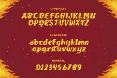On Fire - A Fun and Fiery Display Font Product Image 3