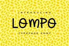 LOMPO Font Product Image 1
