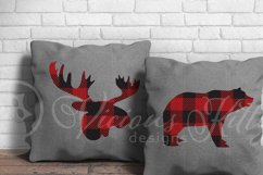 Canada day buffalo plaid bundle, moose, beaver, bear plus Product Image 4