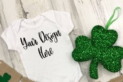 St. Patrick's Day Rabbit Skins 4400 Baby One Piece Mockup Product Image 2