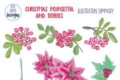 Christmas Poinsettia and Berries Product Image 3