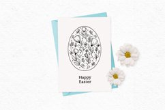 Whimsical Easter egg digital stamps | Cute Easter clipart Product Image 3