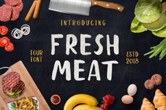 Fresh Meat 4 Font Pack + Bonu Product Image 1