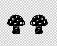 Mushroom earrings svg,Abstract earrings,Jewelry svg,Cricut Product Image 2