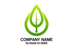 Eco water drop logo design vector Product Image 4
