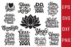 12 Yoga quotes SVG Bundle, lotus flower SVG Product Image 1