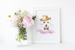 Dog watercolor.Animal Clip art Dog watercolor breeds clipart Product Image 2