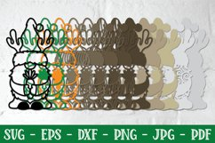 3D Christmas Gnome Bundle, Layered Gnome, 3D Gnome SVG, DXF Product Image 3
