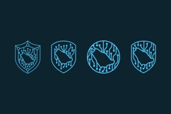 Technology security bundle logo template Product Image 1