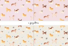 Watercolor Cute Dogs. Patterns and Cliparts Product Image 4