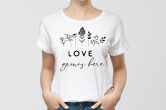 Love Grows Here SVG, Love SVG, Flowers SVG Product Image 2
