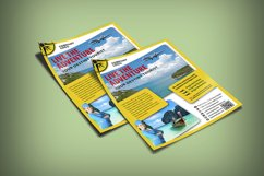 TOURISM FLYER TEMPLATE | Photoshop | Travel | Flying Product Image 3