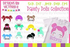 Doll svg, Dainty Dolls Collection, SVG, DXF, EPS, PNG Product Image 1