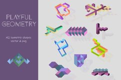 Playful Geometry. 42 vector isometric shapes Product Image 1