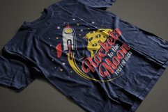 Rocket And Moon Retro Print Product Image 2