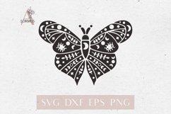 Mystical butterfly svg, Boho butterfly, Boho moth svg, Luna Product Image 1