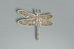 Insect laser cut file - Dragonfly Mandala Product Image 4