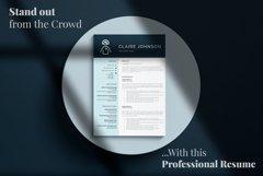 RN Nurse Resume template. Modern Resume format for Nurses Product Image 18
