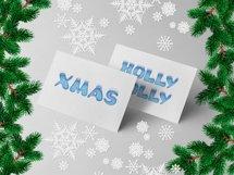 Holiday Season - ice font Product Image 5