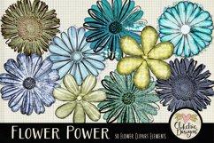 Flower Clipart Elements - Flower Digital Scrapbook Elements Product Image 4