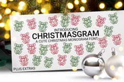 Christmasgram - A Hand-Written Monogram Font With SVG Product Image 1
