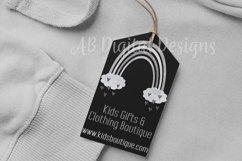 Grey/Neutral Rainbow Clipart, Boho Scandi Baby Nursery PNG Product Image 5