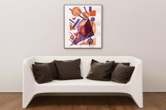 Hand painted Abstract Simple Geometric Forms Composition Product Image 3