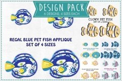 Pet Fish Applique Embroidery Size Pack Product Image 1