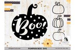 Pumpkin SVG Bundle Halloween Polka Dot Pumpkin Boo Svg Product Image 1