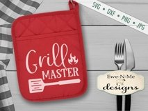 Grilling BBQ Themed Pot Holder Bundle - Fathers Day SVG Product Image 3
