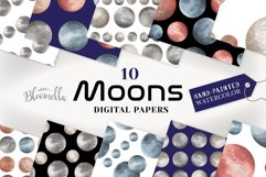 Moon Seamless Patterns Digital Papers Space Galaxy Product Image 1