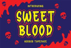 Sweet Blood - Horror Typeface Product Image 1