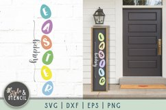 Easter Porch Sign   Happy Easter SVG Product Image 1