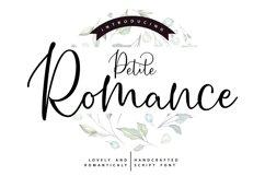 Petite Romance | Handcrafted Script Font Product Image 1