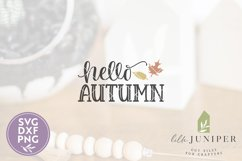Hello Autumn SVG, Fall Sign SVG Product Image 2