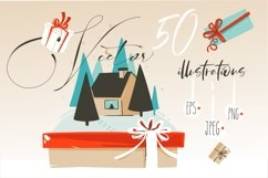 Merry Christmas illustrations Product Image 2