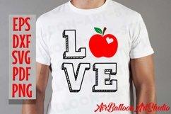 Teacher Svg Teach Love Svg School Svg Love School SVG Love S Product Image 12